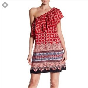 Angie One Shoulder Ruffle Mini Dress